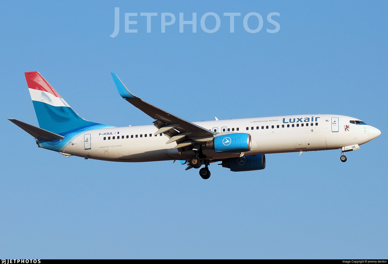 F-HJUL - Boeing 737-8Q8 - Luxair - Luxembourg Airlines (XL Airways France)
