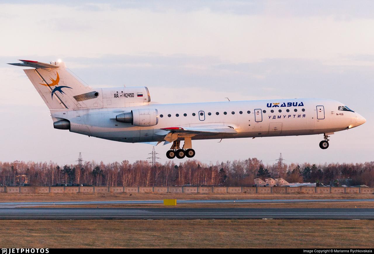 RA-42450 - Yakovlev Yak-42D - Izhavia