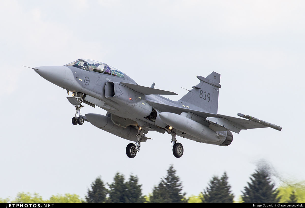 839 - Saab JAS-39D Gripen - Sweden - Air Force