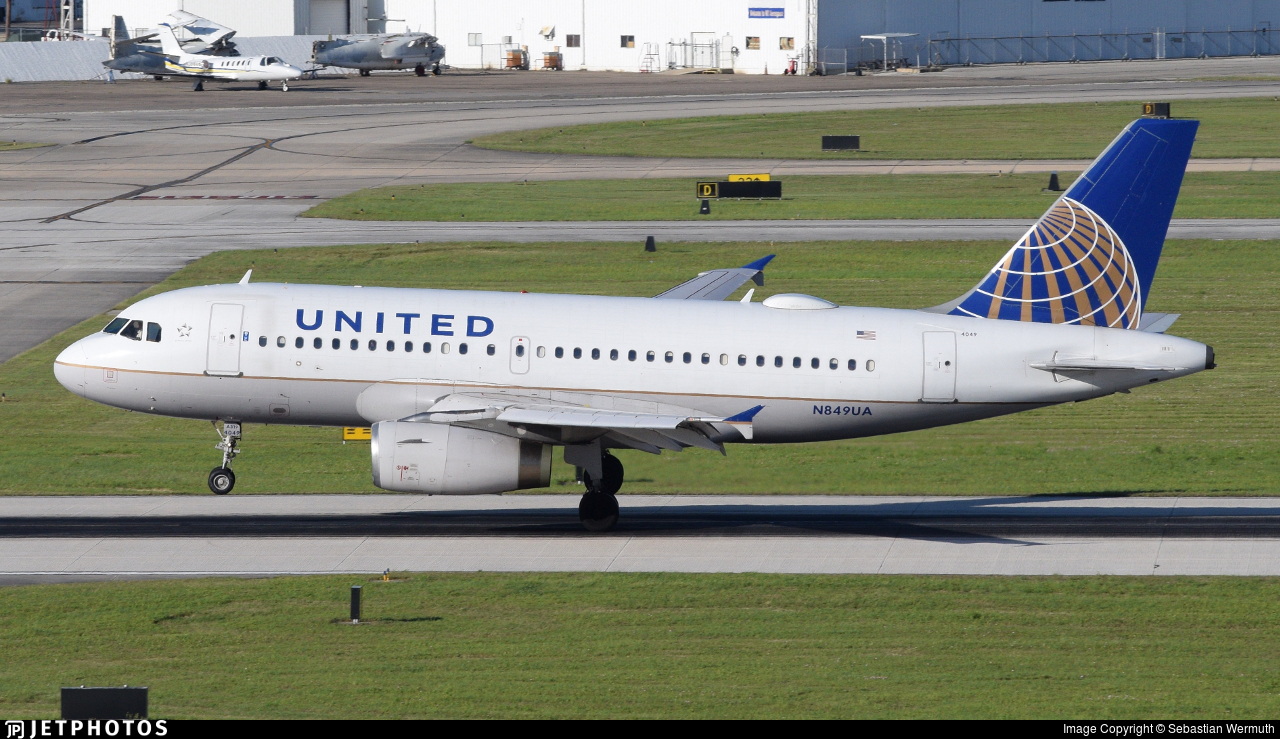 N849UA - Airbus A319-131 - United Airlines