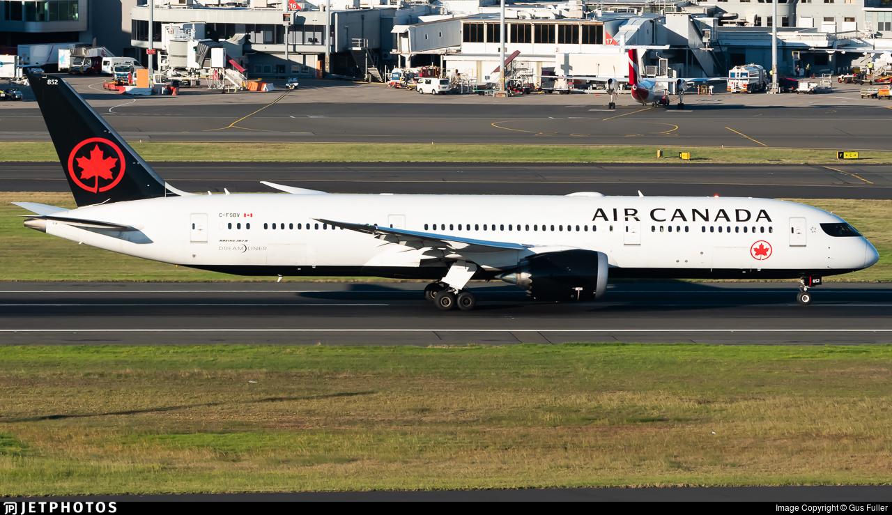 C-FSBV - Boeing 787-9 Dreamliner - Air Canada