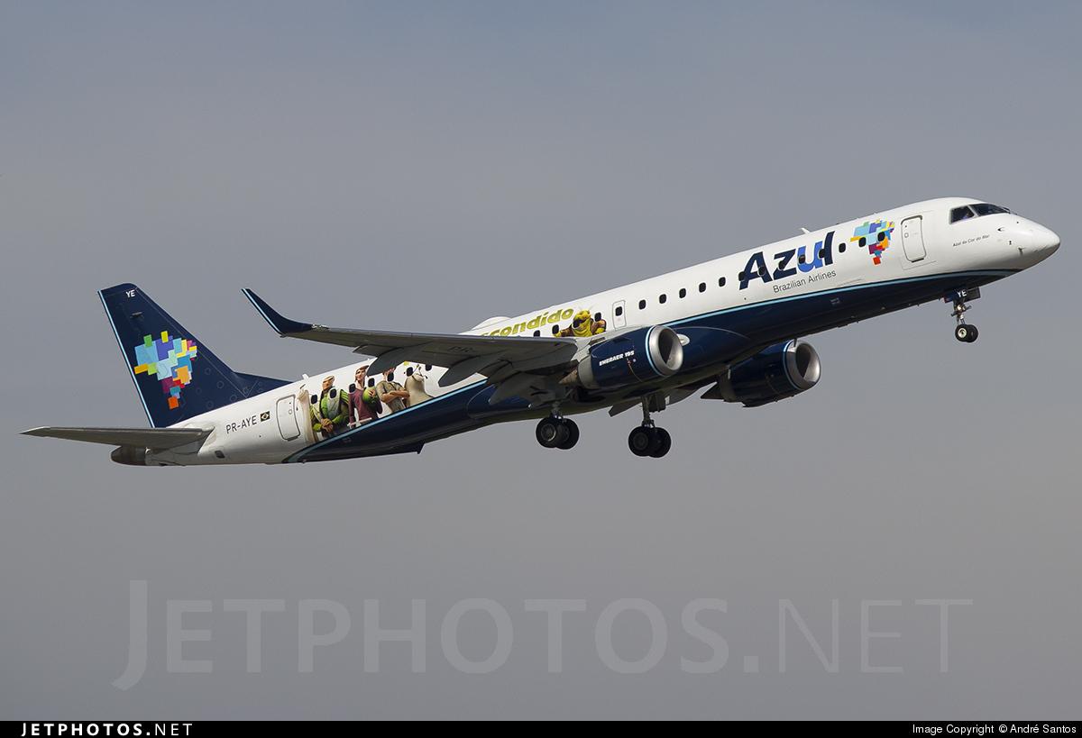 PR-AYE - Embraer 190-200LR - Azul Linhas Aéreas Brasileiras