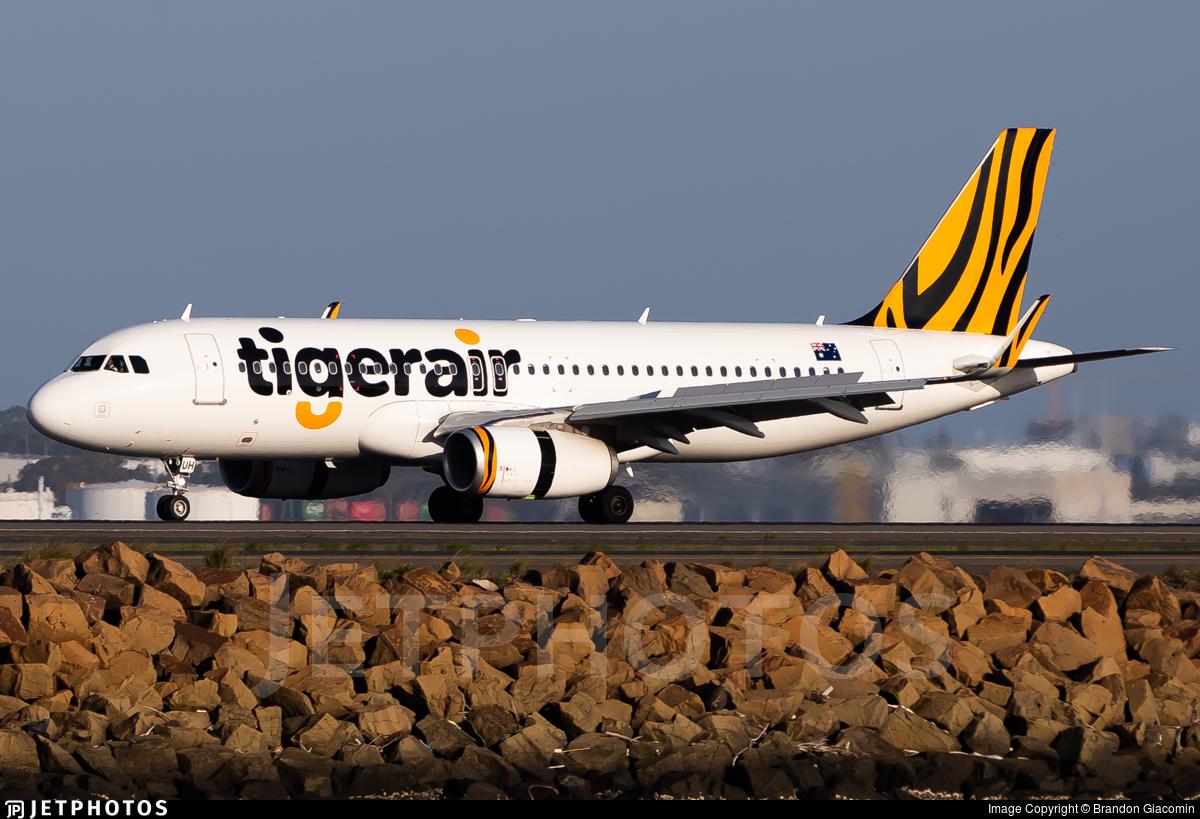 VH-XUH - Airbus A320-232 - Tigerair Australia