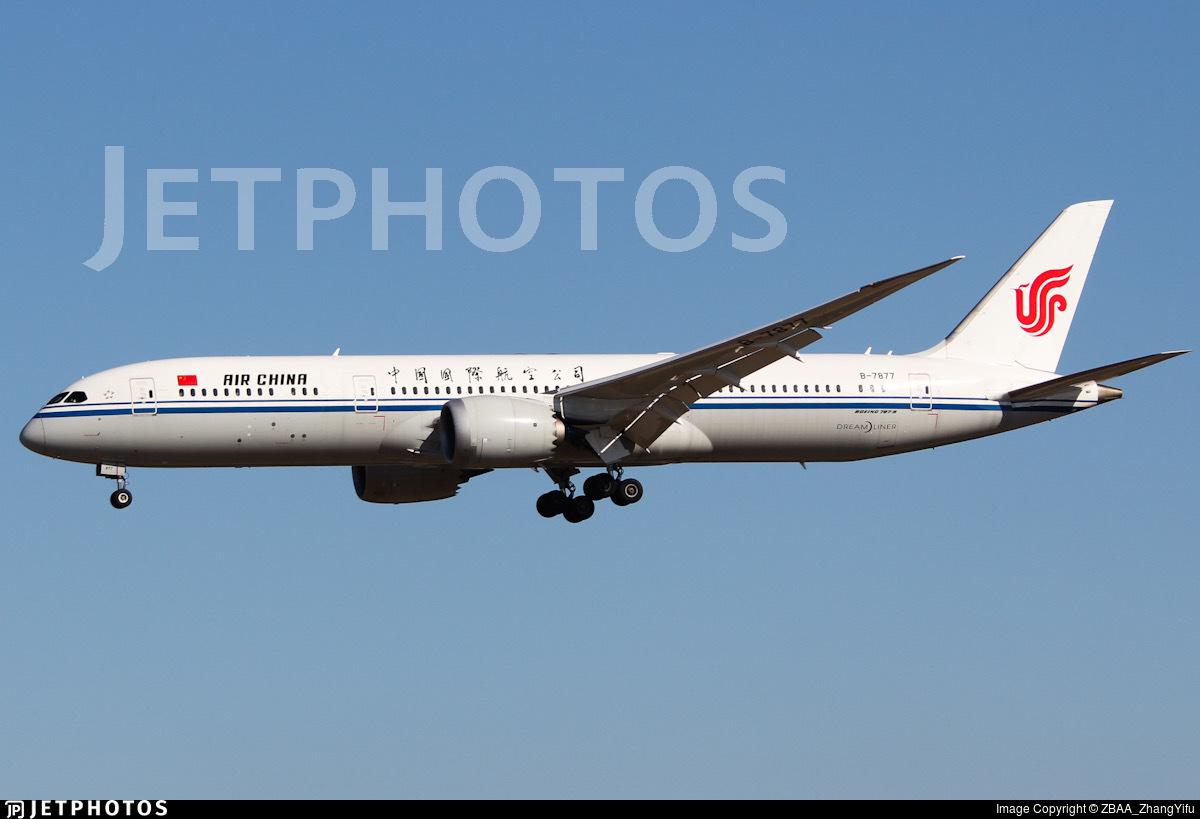 B-7877 - Boeing 787-9 Dreamliner - Air China