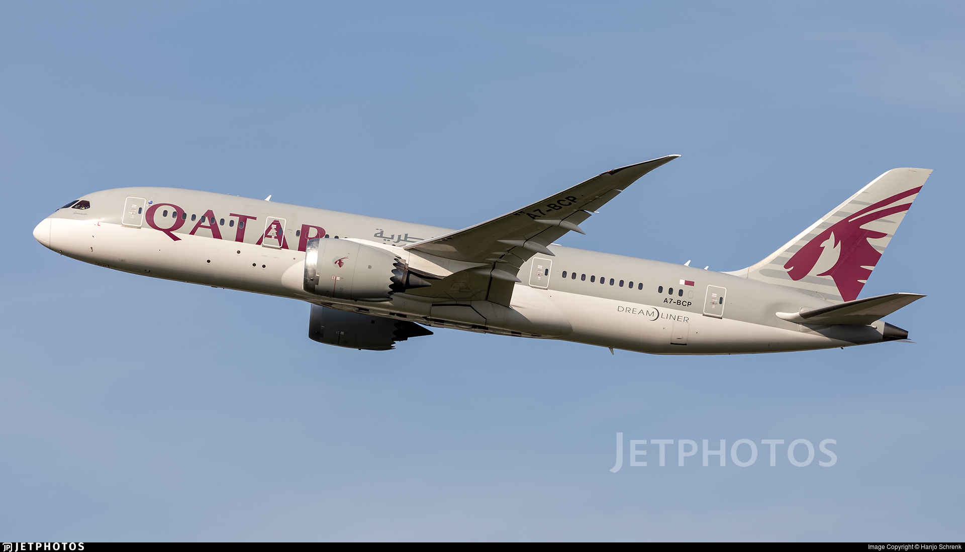 A7-BCP - Boeing 787-8 Dreamliner - Qatar Airways