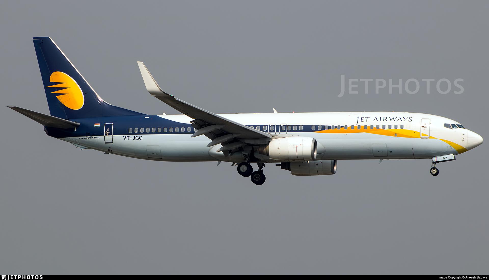 VT-JGG - Boeing 737-8FH - Jet Airways