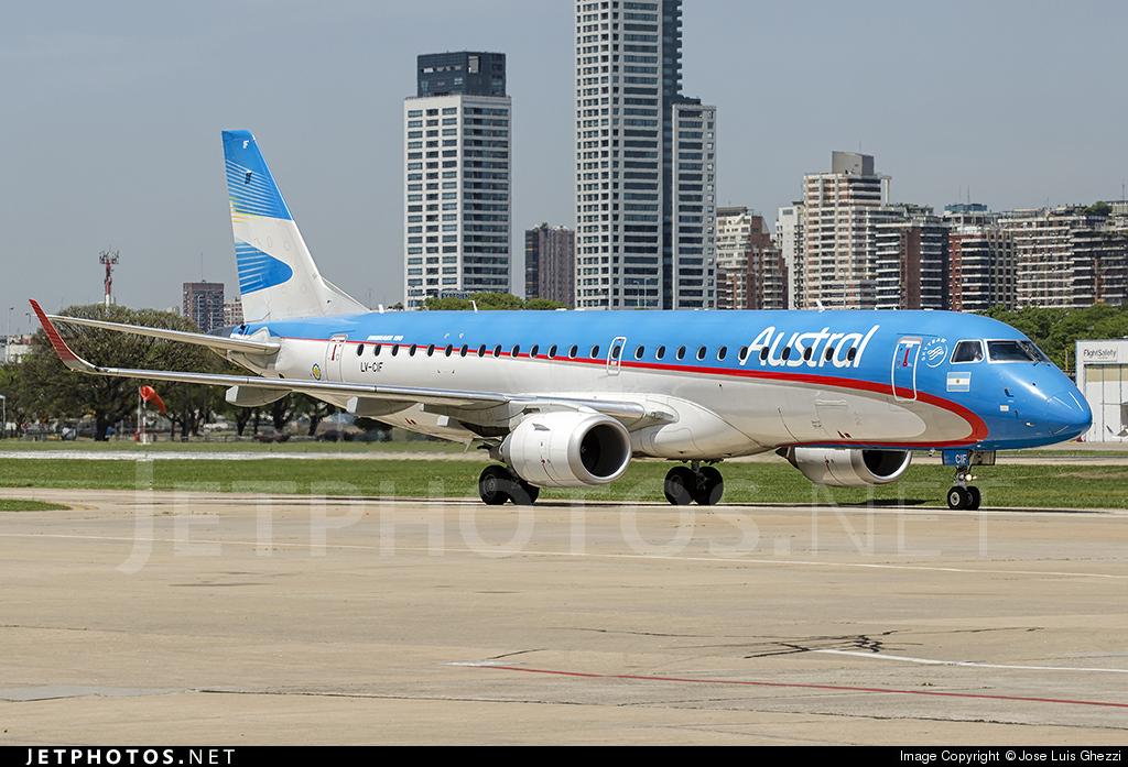 LV-CIF - Embraer 190-100IGW - Austral Líneas Aéreas