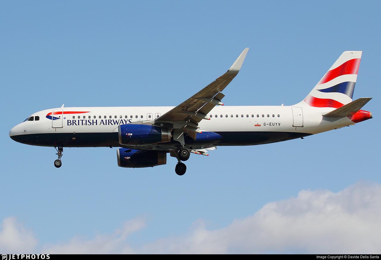 G-EUYV - Airbus A320-232 - British Airways