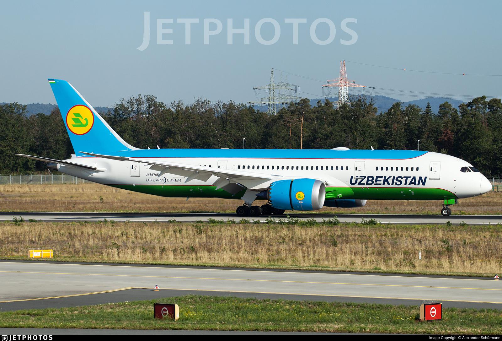 UK78705 - Boeing 787-8 Dreamliner - Uzbekistan Airways