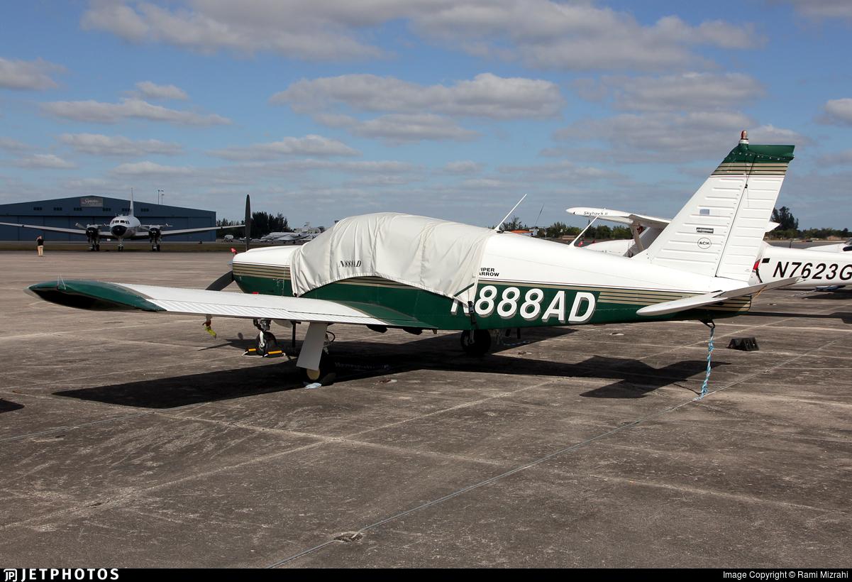 N888AD - Piper PA-28R-180 Cherokee Arrow - Private