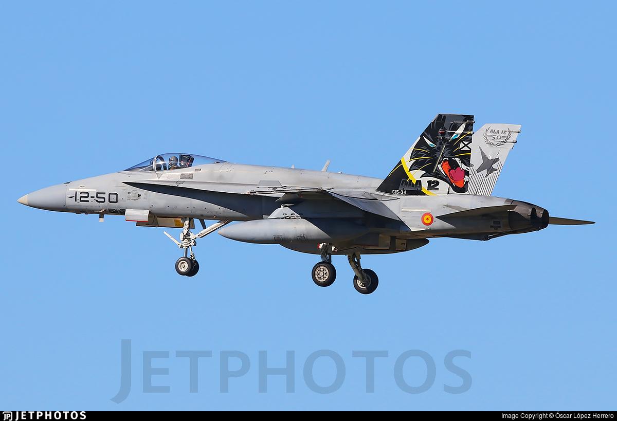 C.15-34 - McDonnell Douglas EF-18A+ Hornet - Spain - Air Force