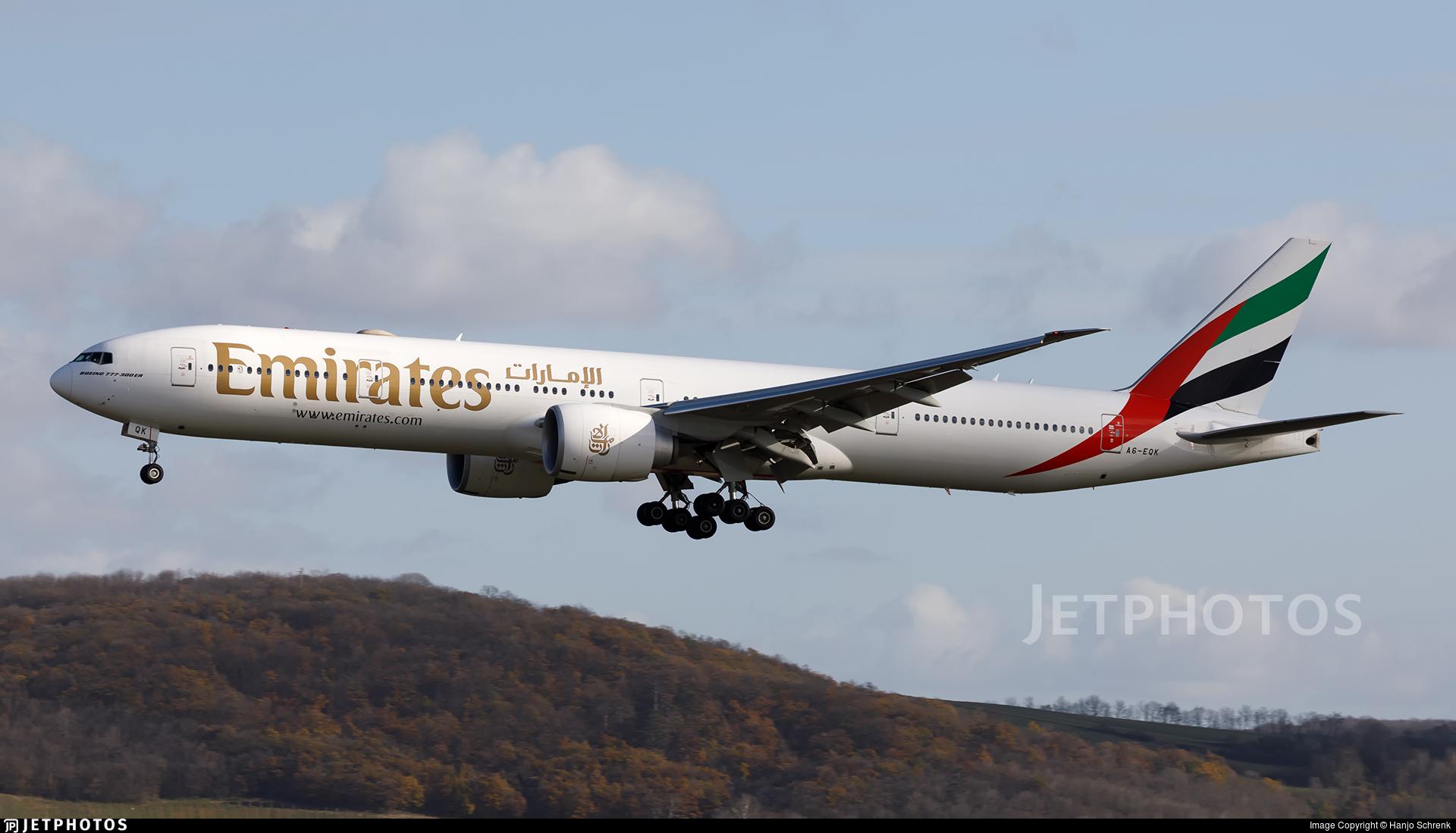 A6-EQK - Boeing 777-31HER - Emirates