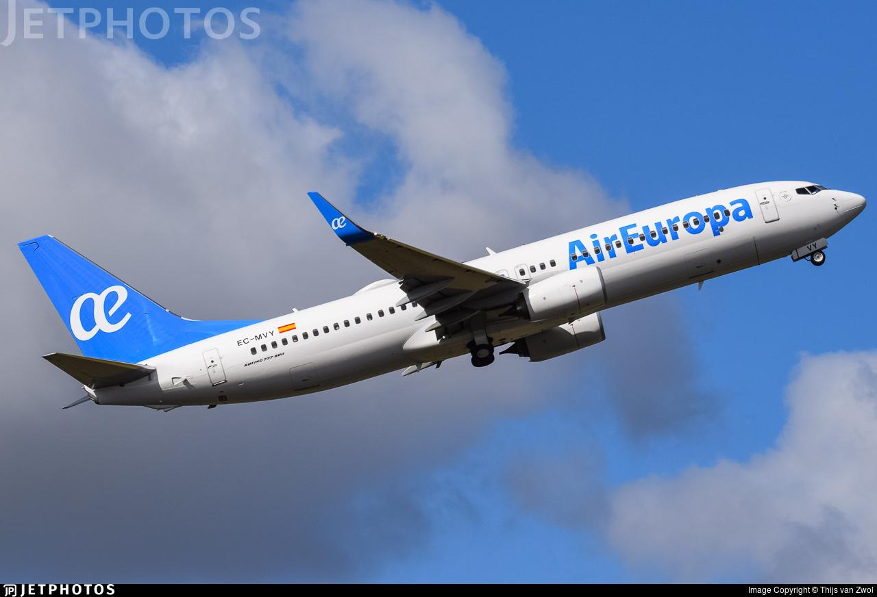 EC-MVY - Boeing 737-85P - Air Europa