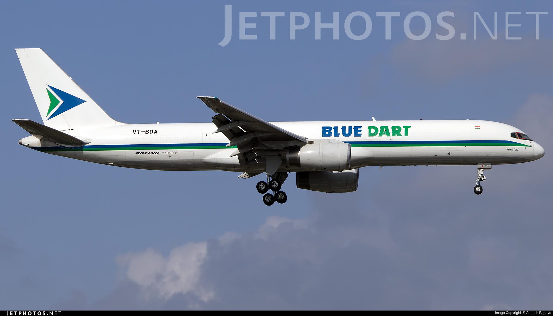 VT-BDA - Boeing 757-25F(SF) - Blue Dart Aviation