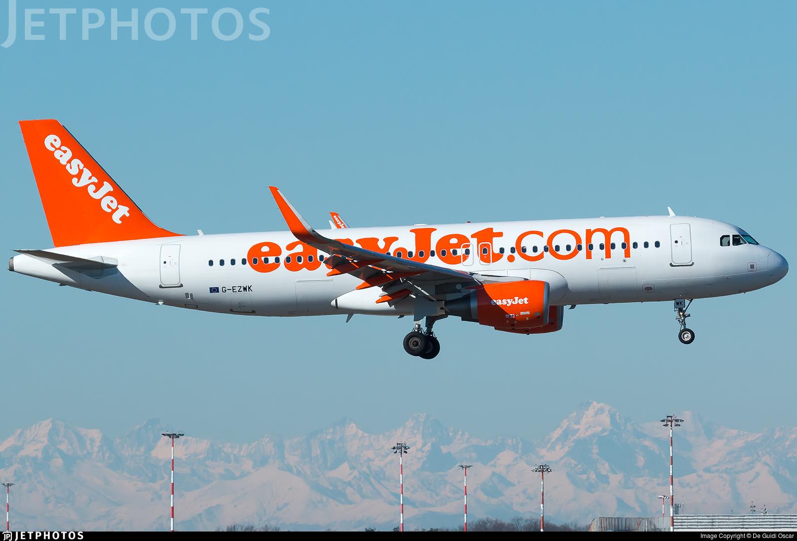 G-EZWK - Airbus A320-214 - easyJet