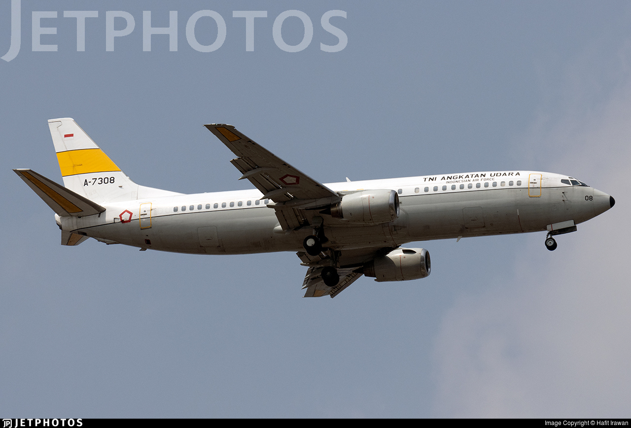 A-7308 - Boeing 737-4Y0 - Indonesia - Air Force