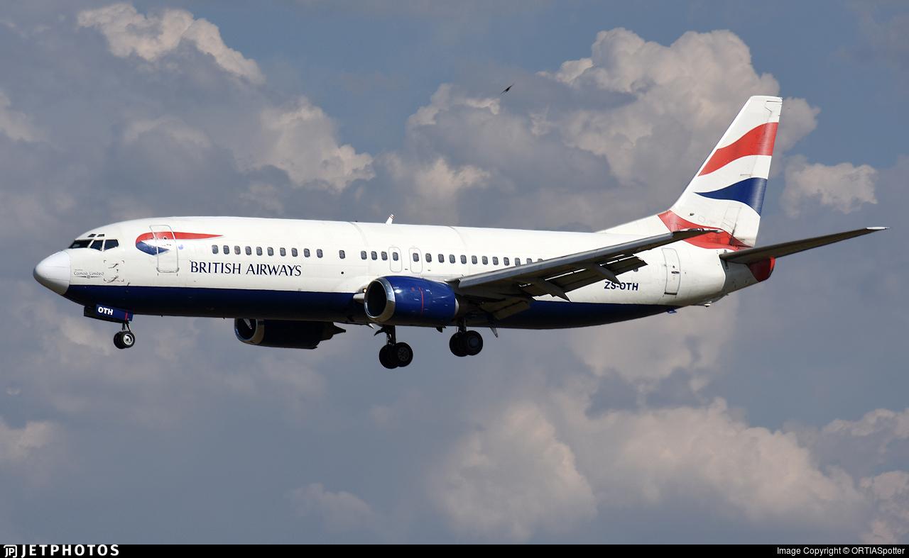 ZS-OTH - Boeing 737-436 - British Airways (Comair)