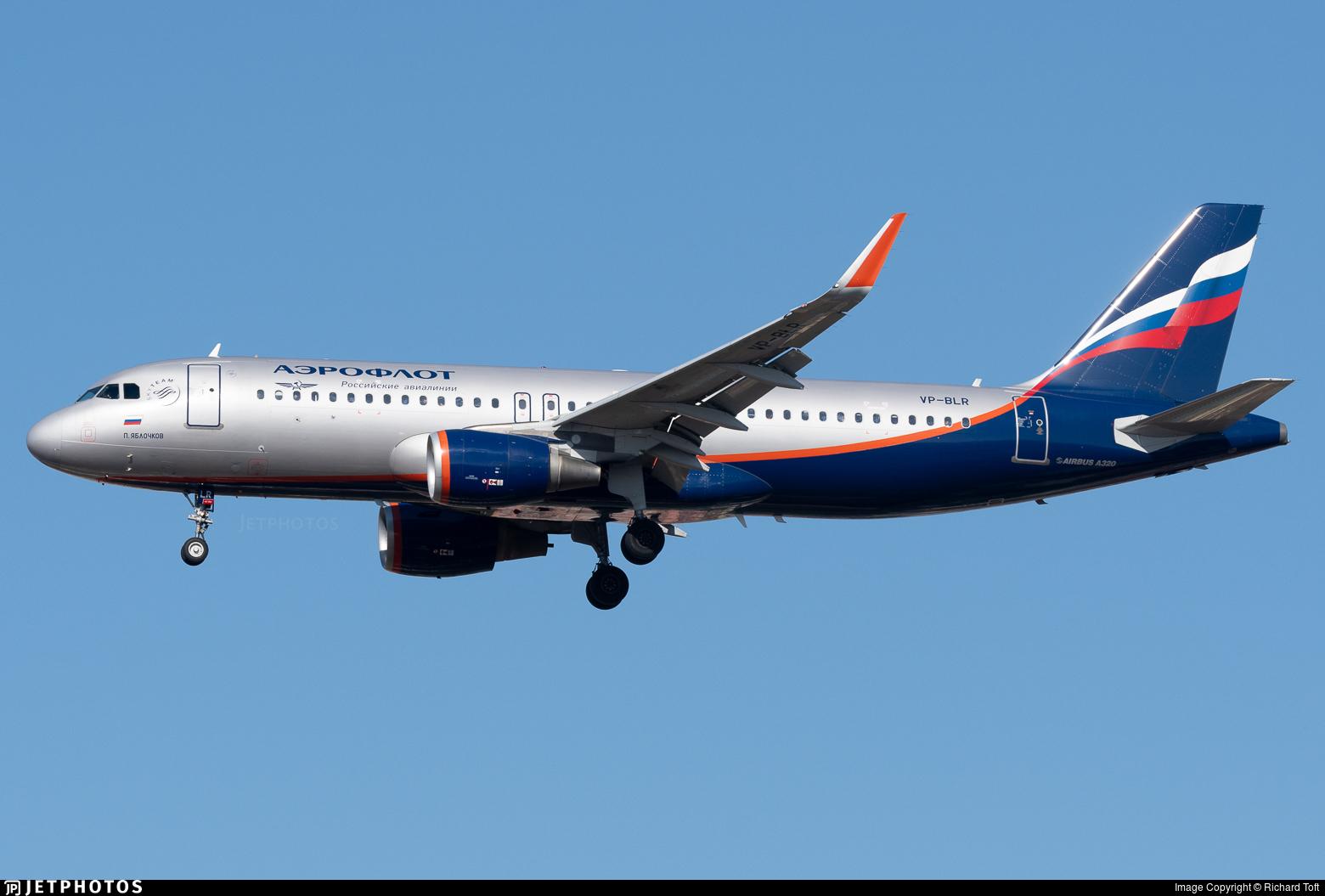 VP-BLR - Airbus A320-214 - Aeroflot