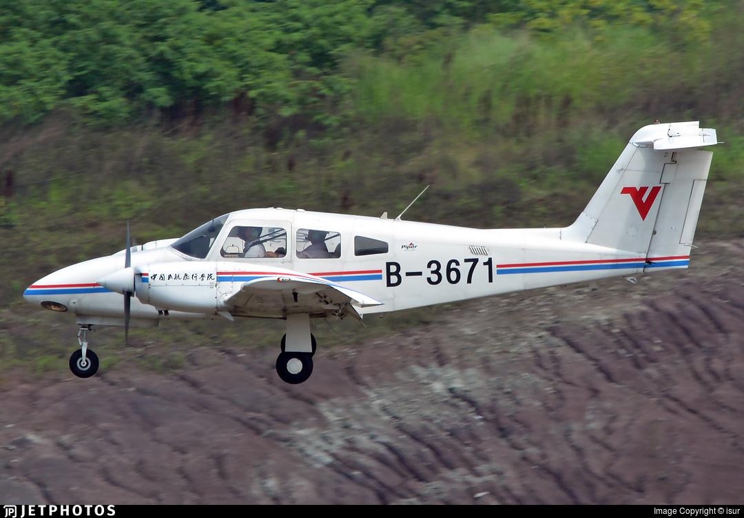 B-3671 - Piper PA-44-180 Seminole - Civil Aviation Flight University of China