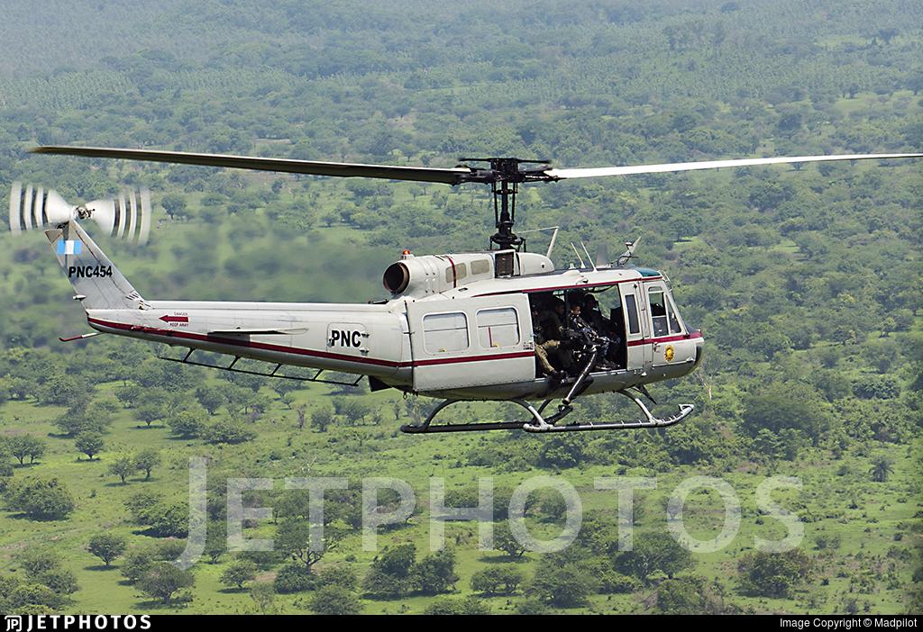 PNC454 - Bell UH-1H Huey II - PNC Policia Nacional Civil