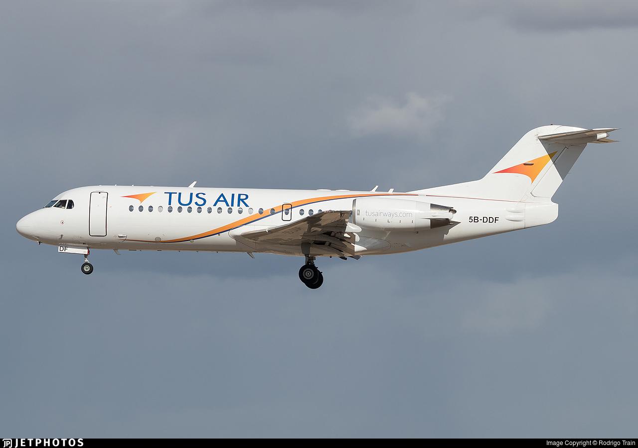 5B-DDF  - Fokker 70 - Tus Airways