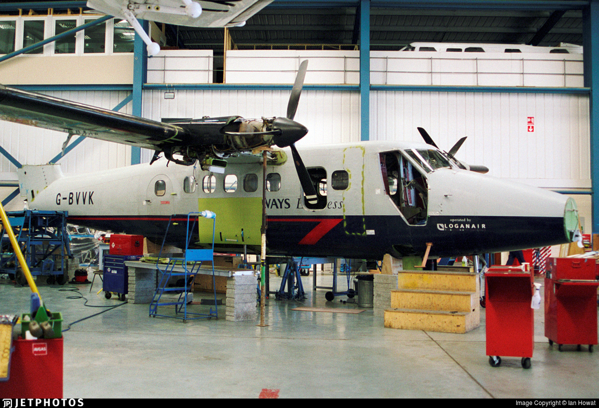 G-BVVK - De Havilland Canada DHC-6-300 Twin Otter - British Airways (Loganair)