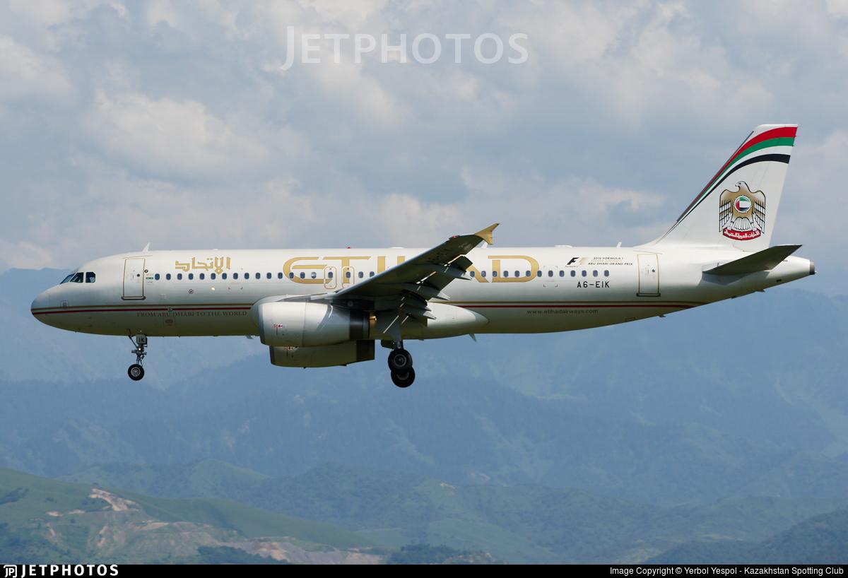 A6-EIK - Airbus A320-232 - Etihad Airways