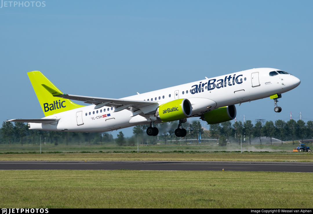 YL-CSH - Bombardier CSeries CS300 - Air Baltic