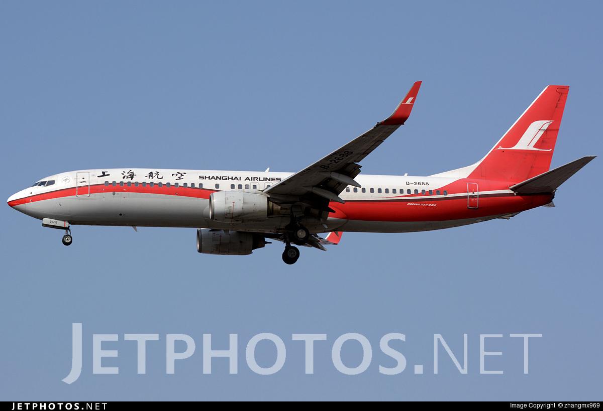 B-2688 - Boeing 737-86D - Shanghai Airlines
