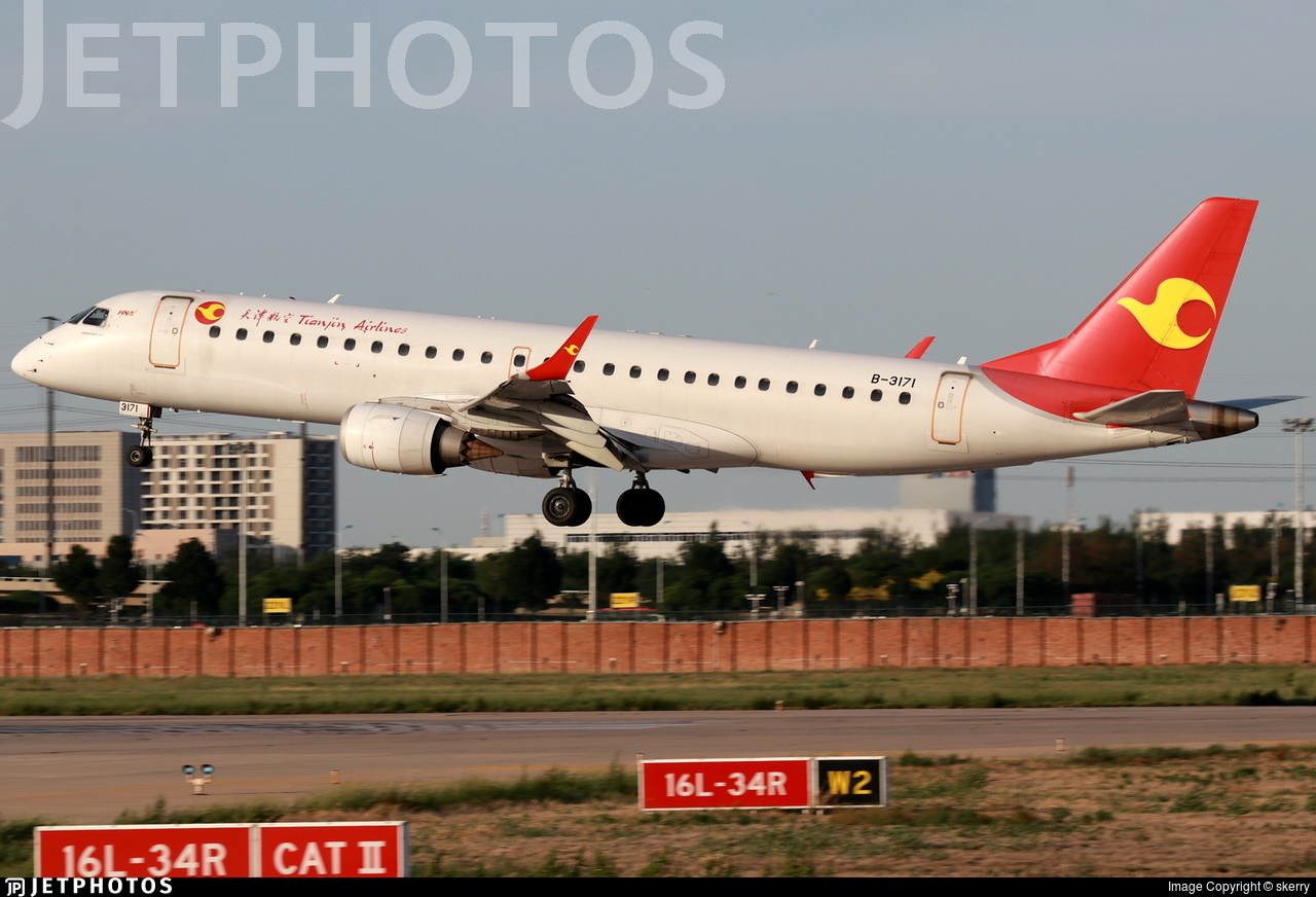 B-3171 - Embraer 190-100LR - Tianjin Airlines
