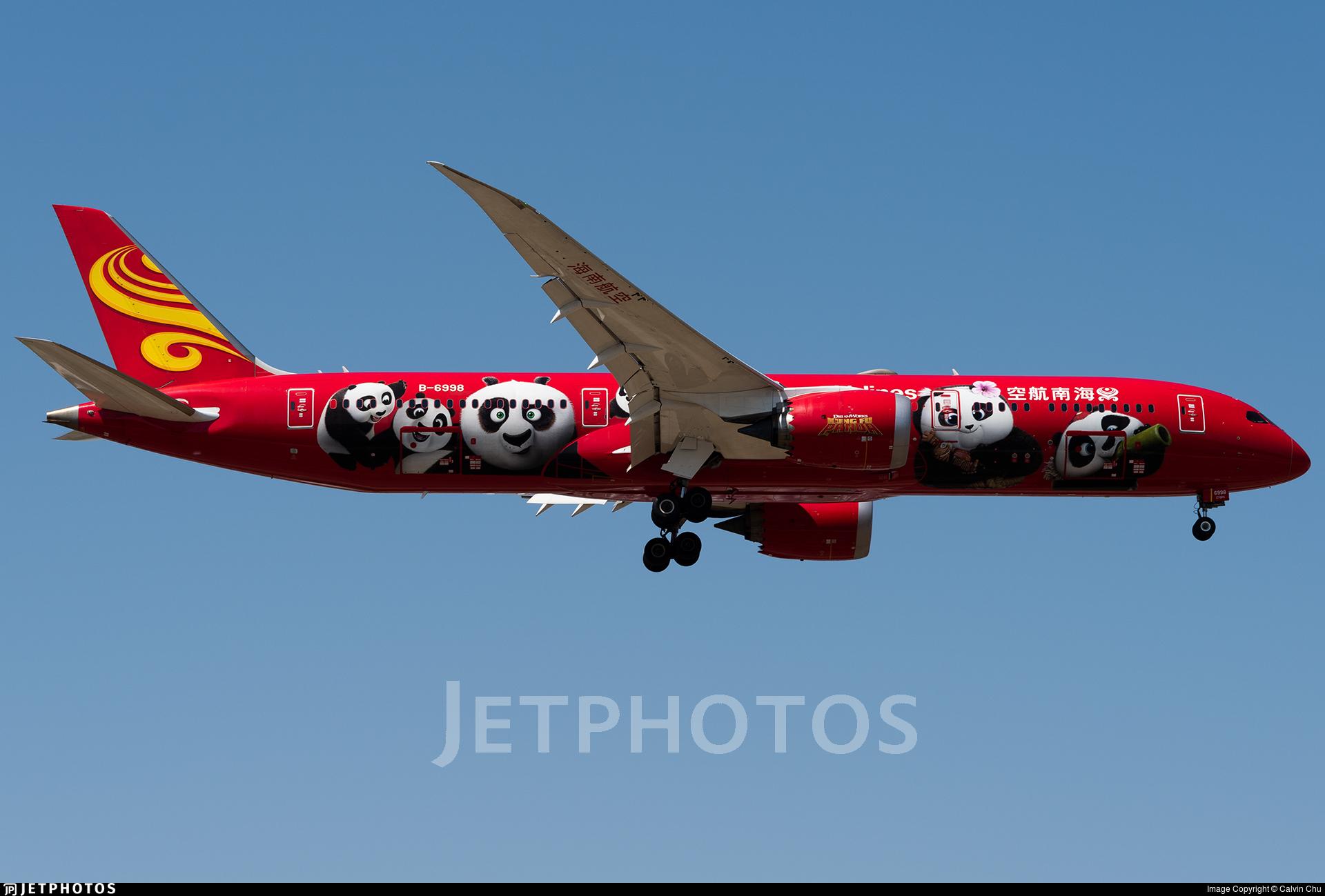 B-6998 - Boeing 787-9 Dreamliner - Hainan Airlines