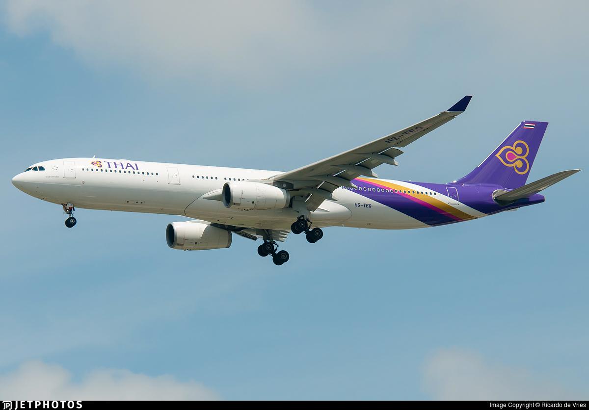 HS-TEQ - Airbus A330-343 - Thai Airways International