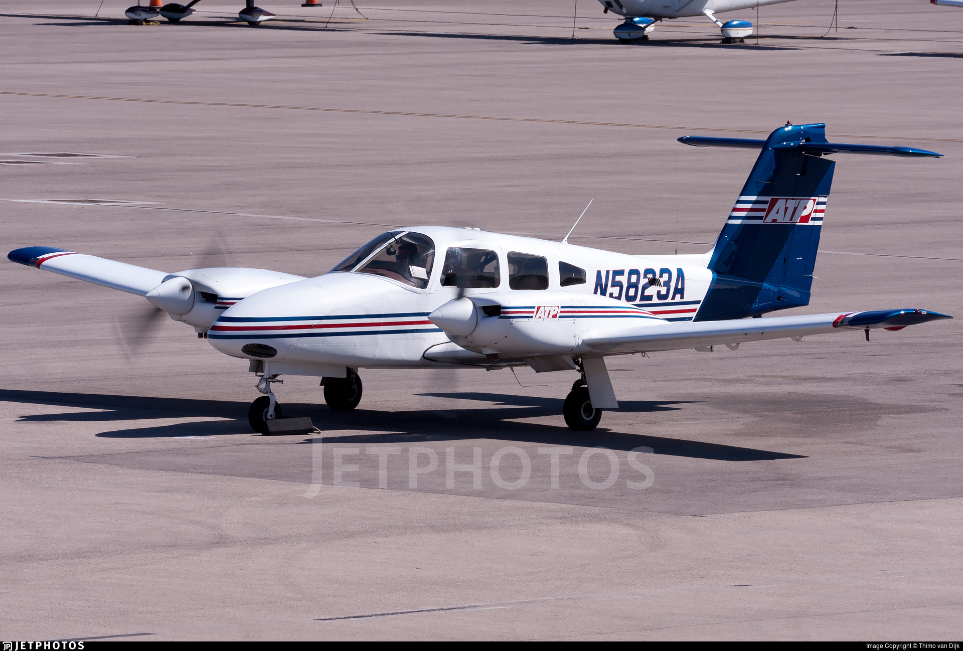 N5823a Piper Pa 44 180 Seminole Atp Flight School Thimo Van