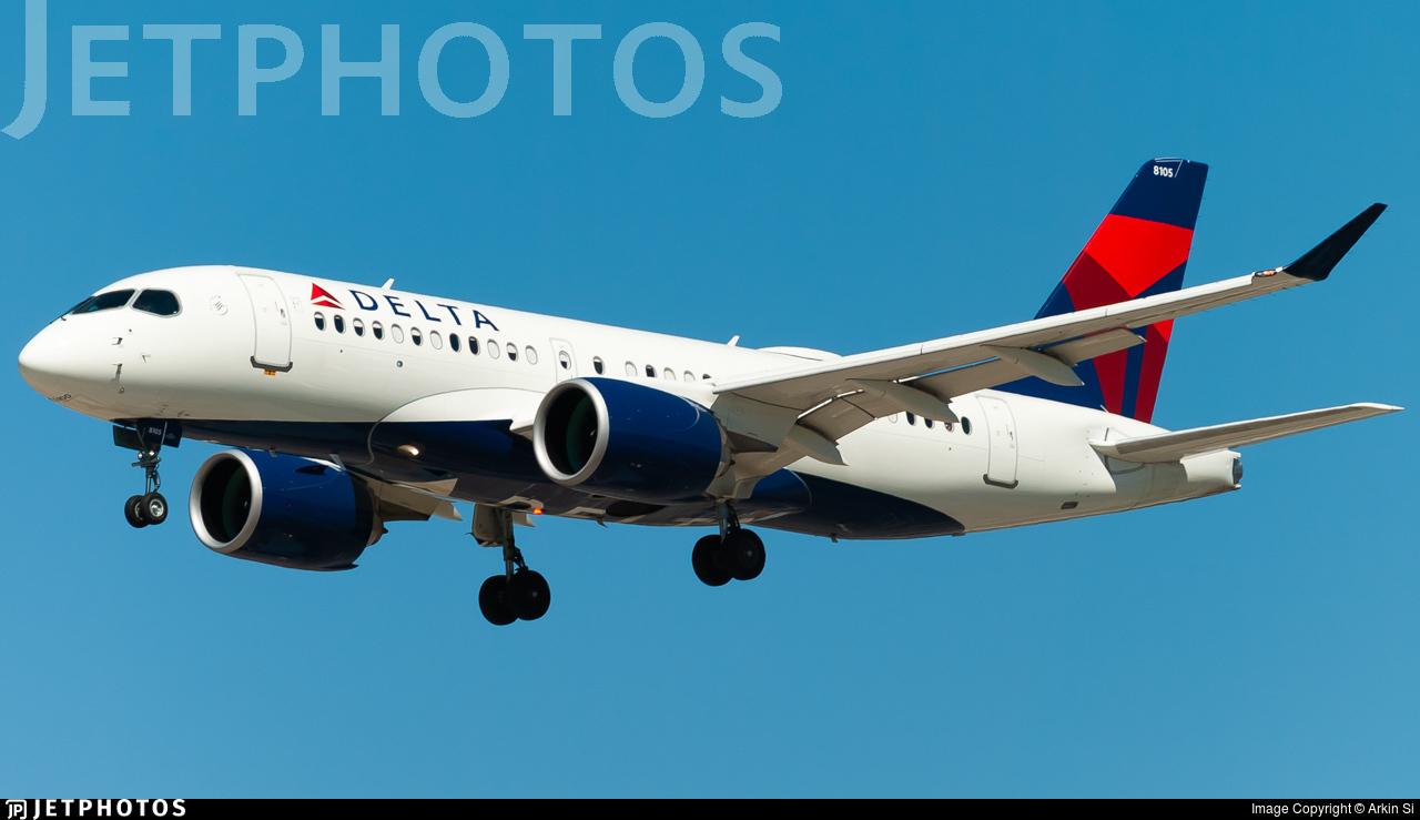 N105DU - Airbus A220-171 - Delta Air Lines