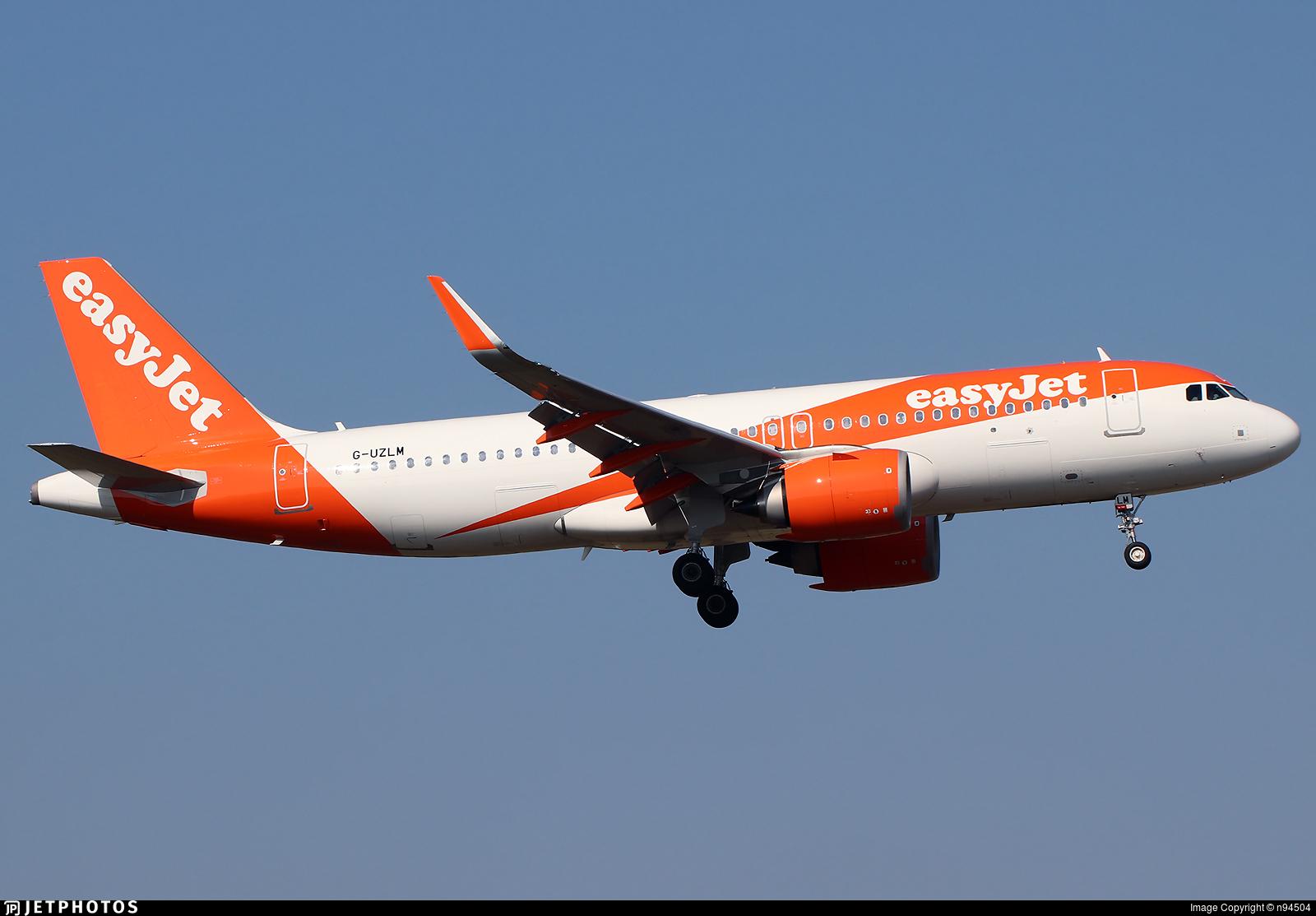 G-UZLM - Airbus A320-251N - easyJet