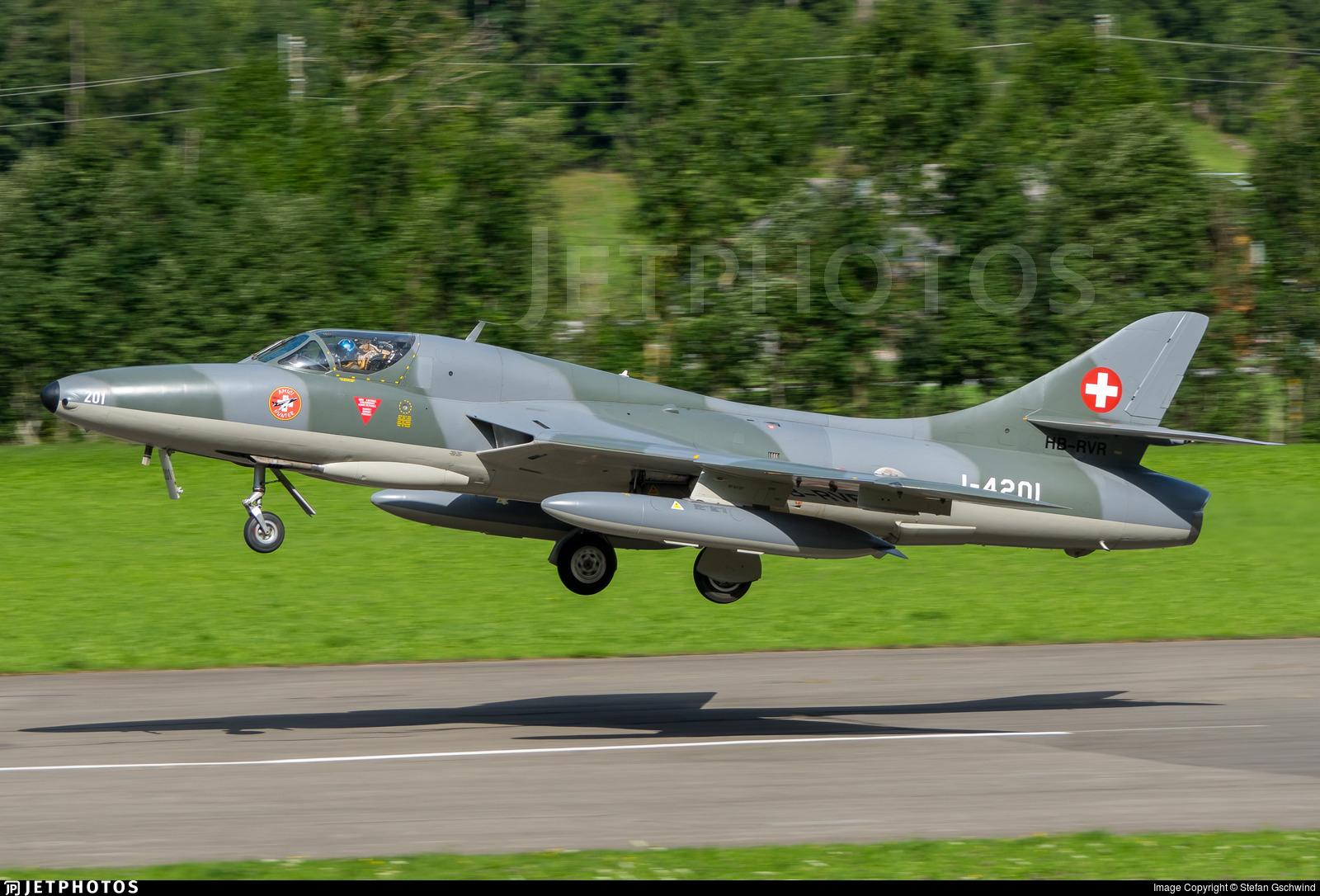 HB-RVR - Hawker Hunter T.68 - Private