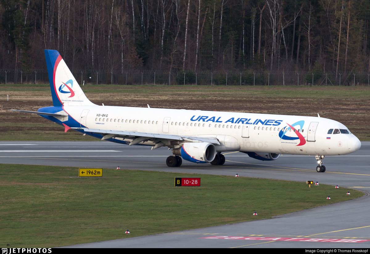 VQ-BKG - Airbus A321-211 - Ural Airlines