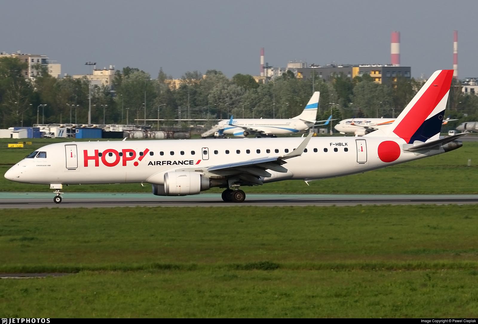 F-HBLK - Embraer 190-100STD - HOP! for Air France