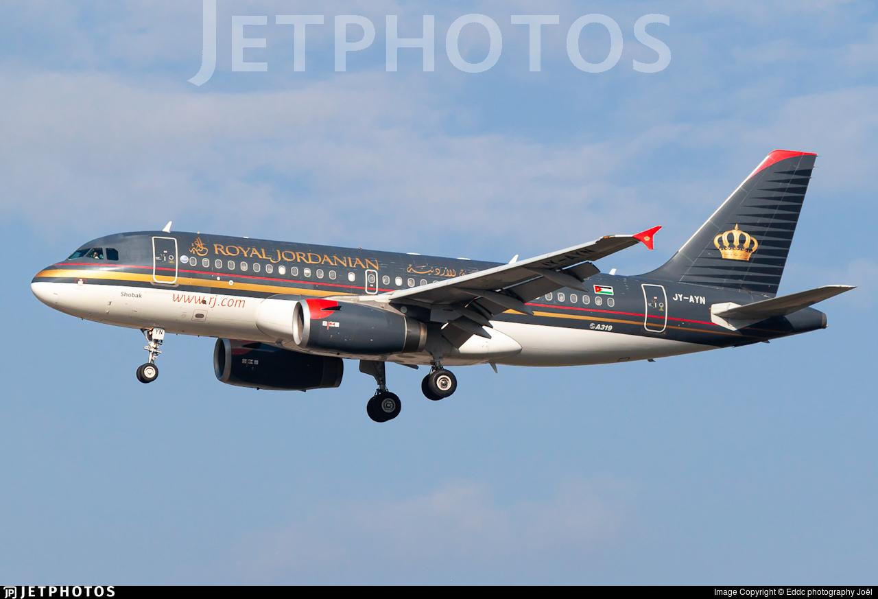 JY-AYN - Airbus A319-132 - Royal Jordanian