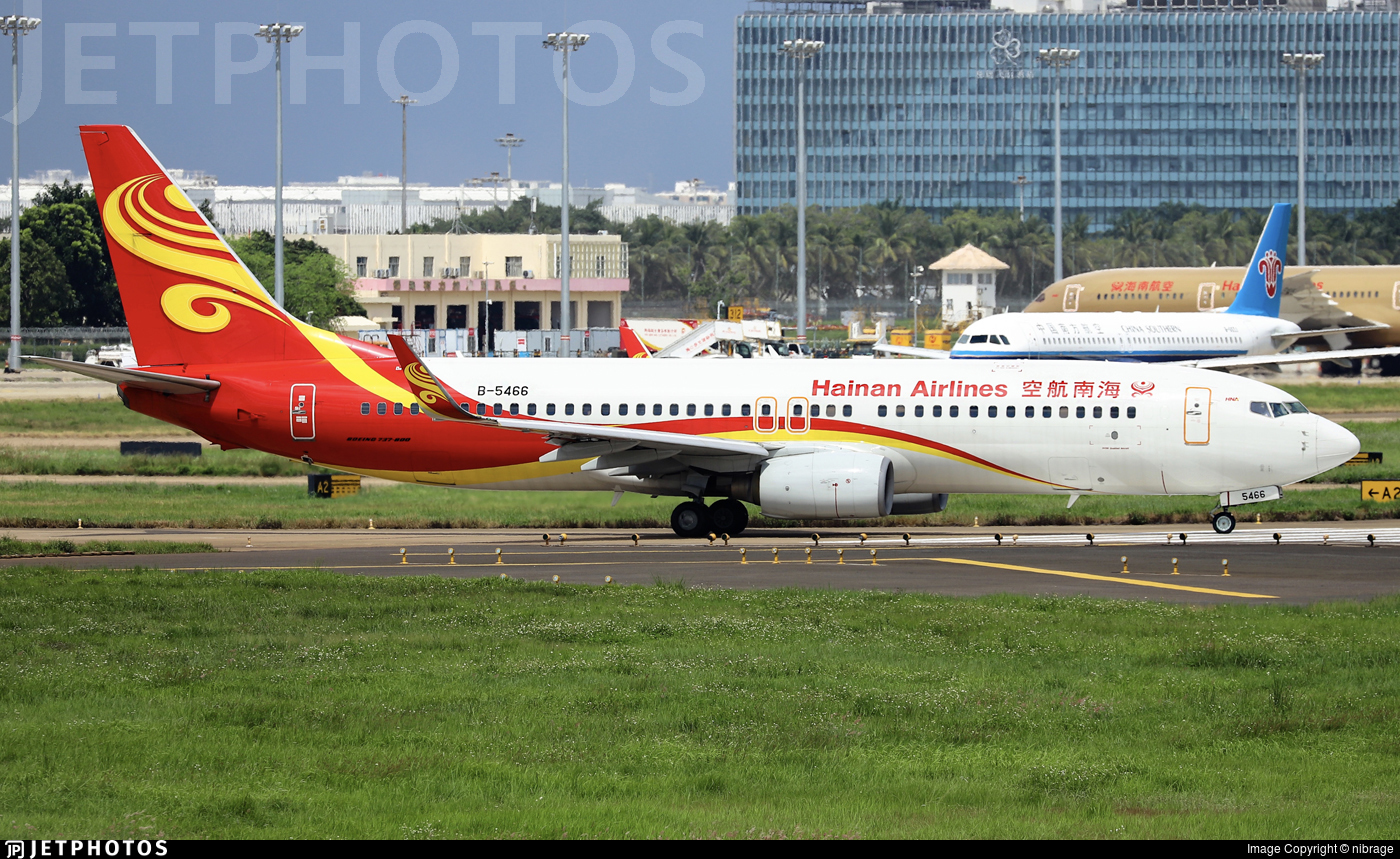B-5466 - Boeing 737-84P - Hainan Airlines