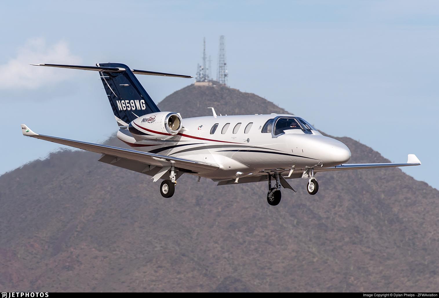 N659WG - Cessna 525 CitationJet M2 - Private