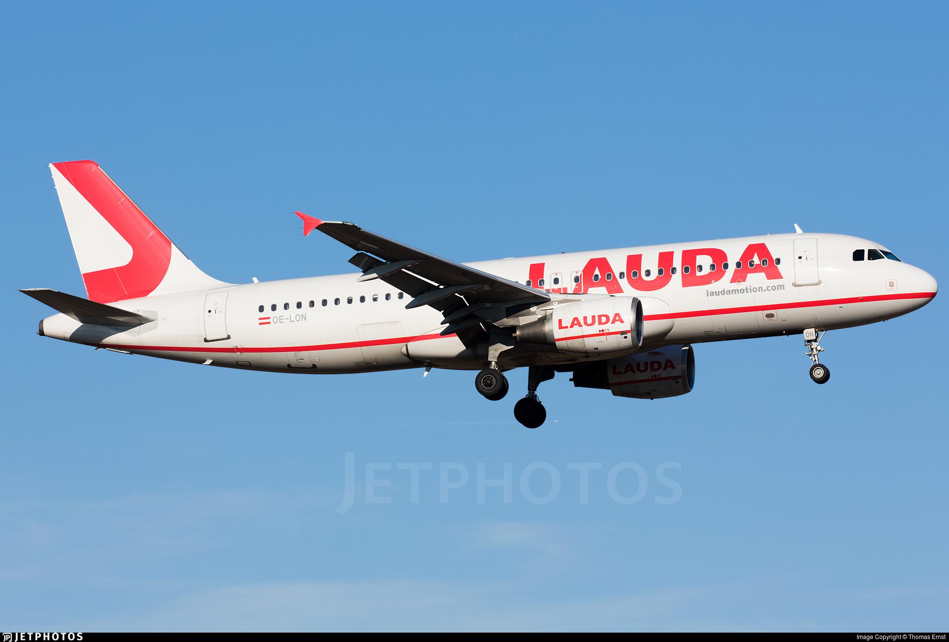 OE-LON - Airbus A320-214 - LaudaMotion