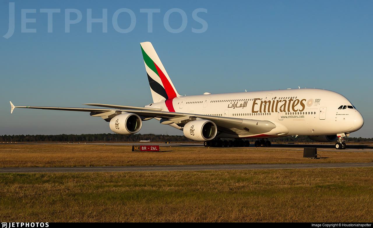 A6-EUL - Airbus A380-861 - Emirates