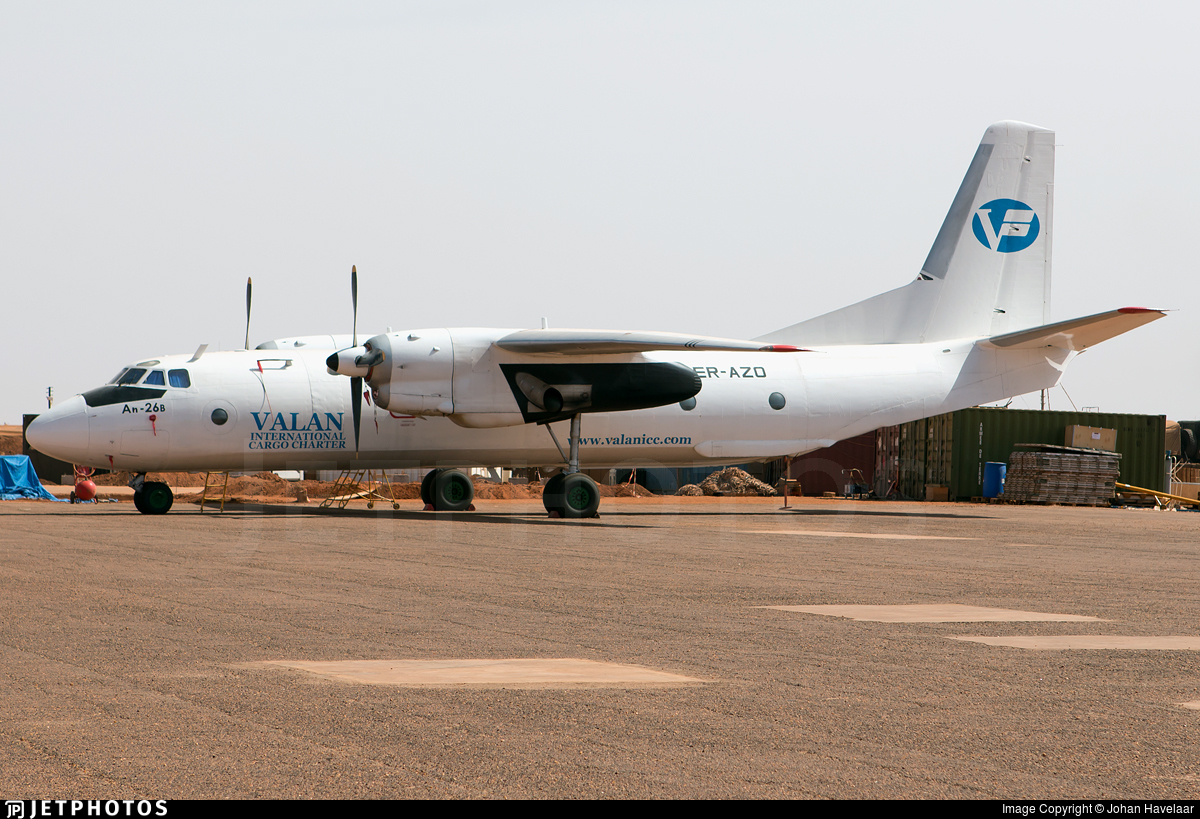 ER-AZO - Antonov An-26B - Valan International Cargo Charter
