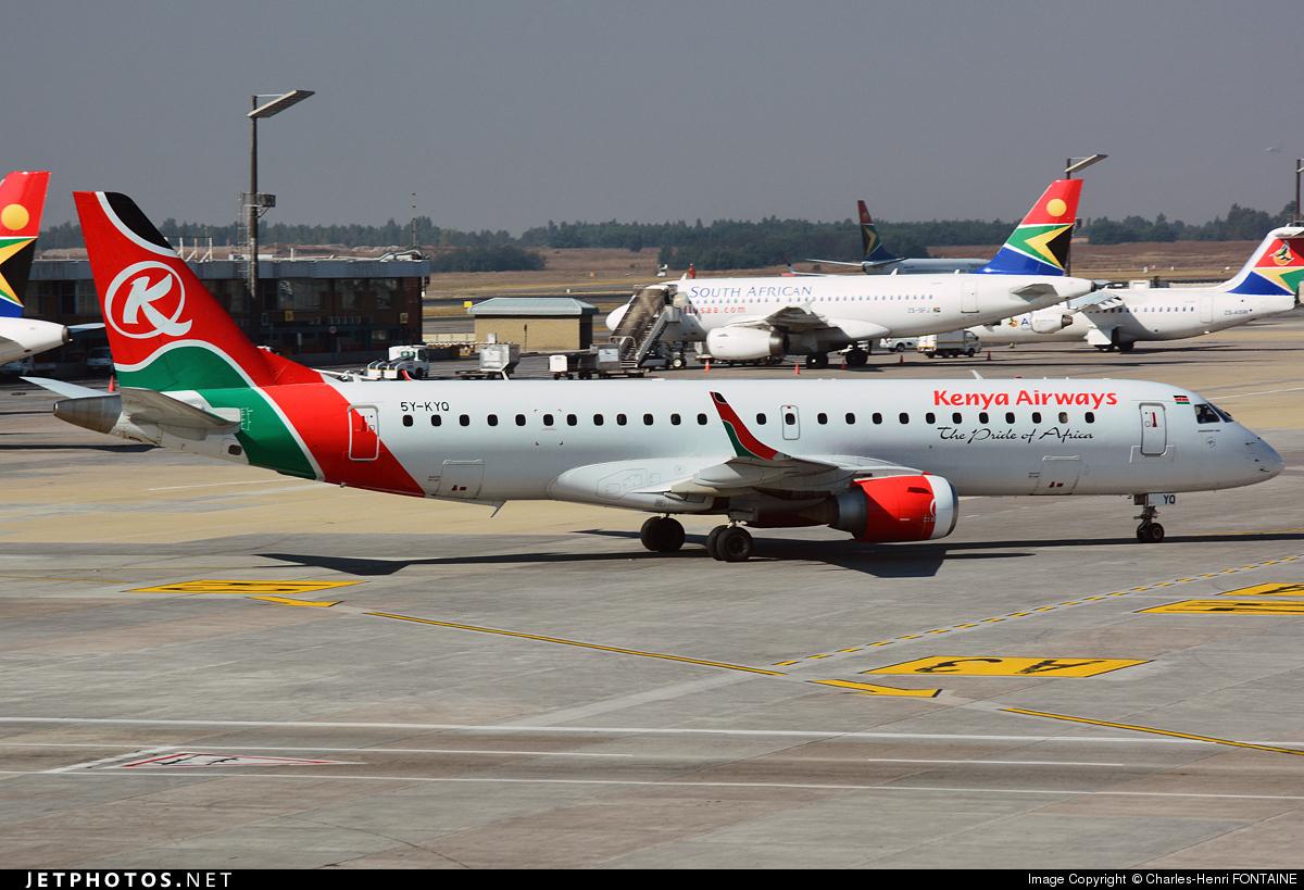 5Y-KYQ - Embraer 190-100IGW - Kenya Airways
