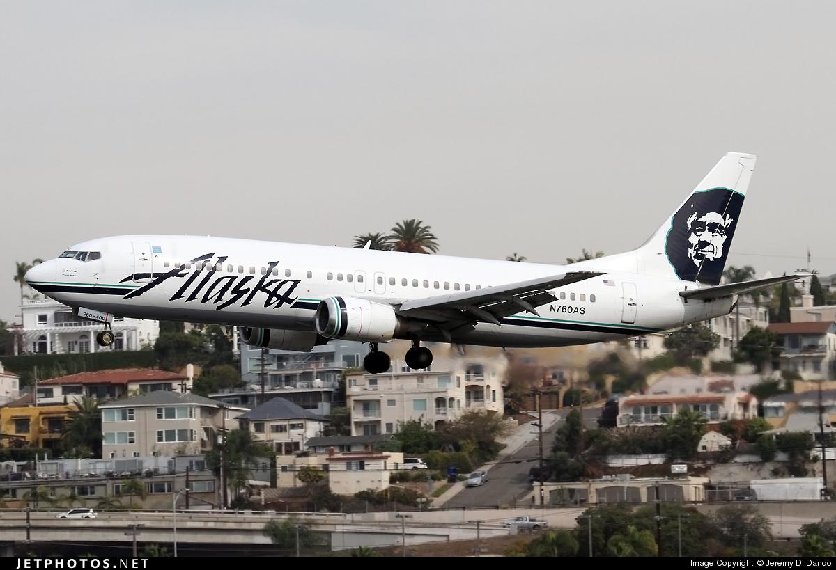 N760AS - Boeing 737-4Q8 - Alaska Airlines