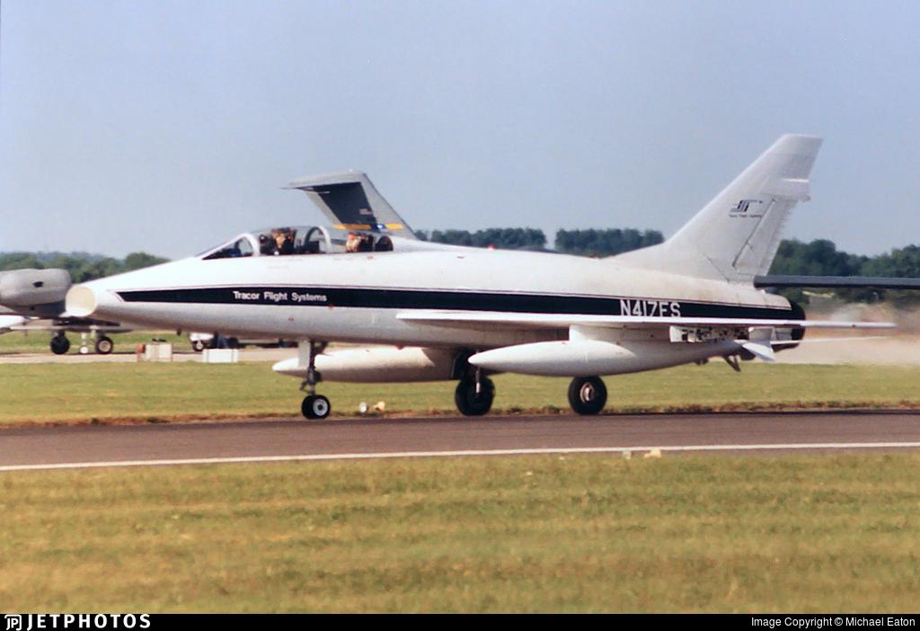 N417FS - North American F-100F Super Sabre - Tracor Aviation