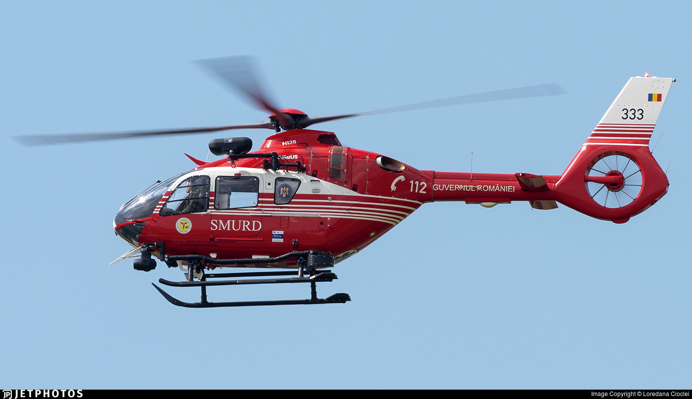 333 - Airbus Helicopters H135 T3H - Romania - Emergency Rescue Service (SMURD)