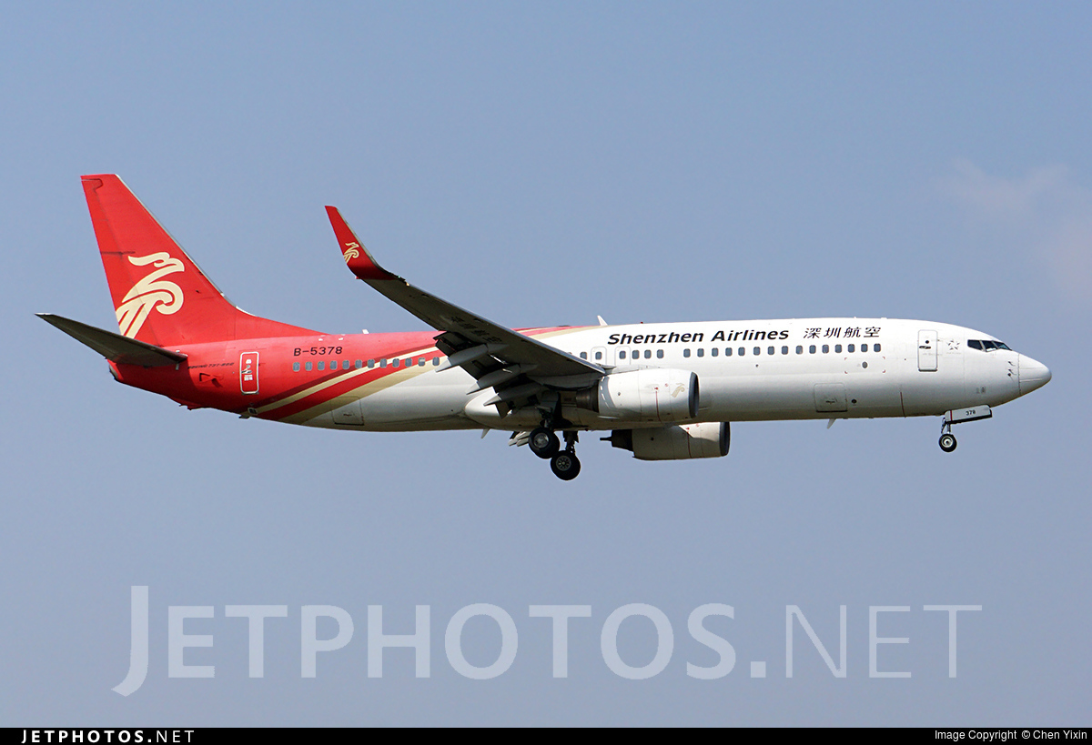 B-5378 - Boeing 737-8AL - Shenzhen Airlines