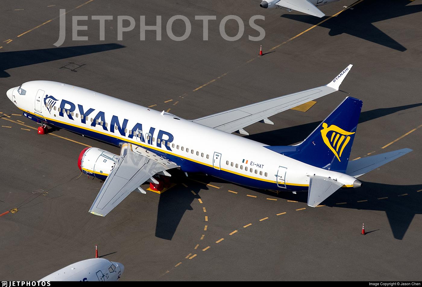EI-HAT - Boeing 737-8-200 MAX - Ryanair